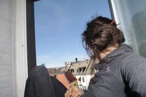 Ich am Fenster