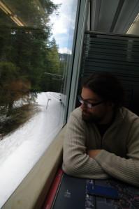 Benno im Zug